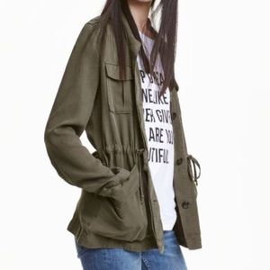 H&M LOGG Army Green Utility Jacket Coat
